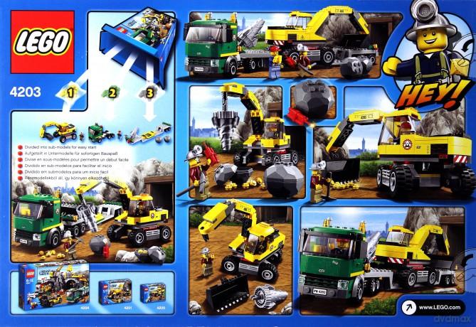 Lego City Koparka Z Transporterem 4203 Klocki Dvdmaxpl