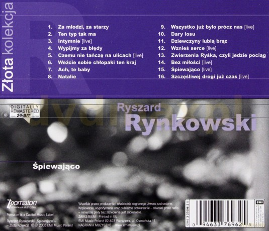 Ryszard Rynkowski: Złota Kolekcja» [CD] Wykonawca: Ryszard