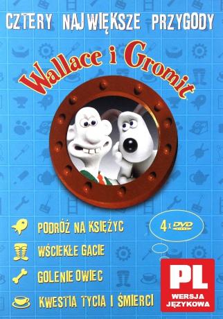 Wallace i Gromit: Podróż na księżyc / Wściekłe gacie / Golenie owiec / Kwestia tycia i śmierci