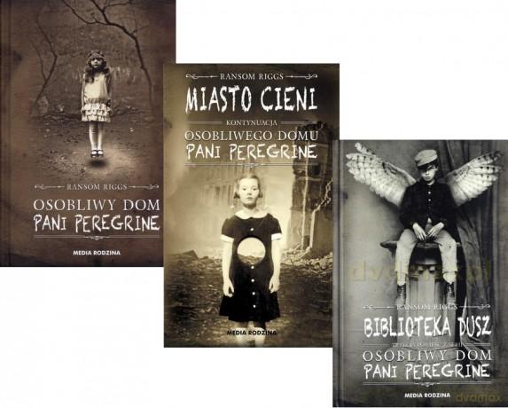 Osobliwy Dom Pani Peregrine + Miasto Cieni + Biblioteka dusz - Ransom Riggs Pakiet