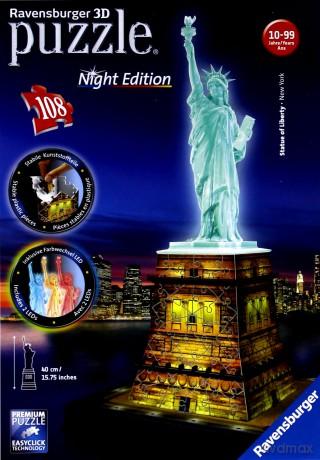 RAVENSBURGER 108 el. 3D Statua Wolności noc