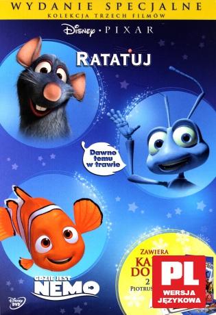 Dawno Temu w Trawie / Gdzie Jest Nemo / Ratatuj Pixar Pakiet (Wydanie Specjalne z Kartami Do Gry 2w1) (Piotruś/Memory)