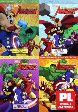 Avengers: Potęga i moc część 1-4 Pakiet