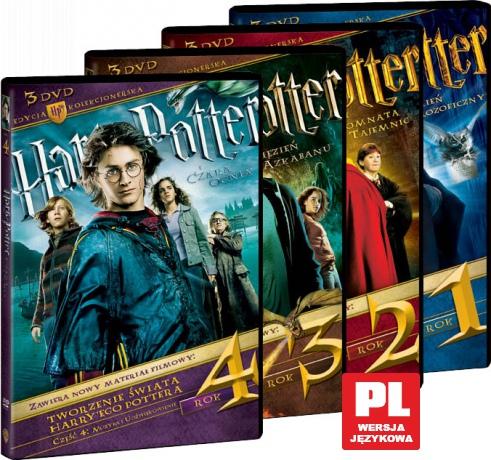 Harry Potter lata 1-4 edycja kolekcjonerska Pakiet